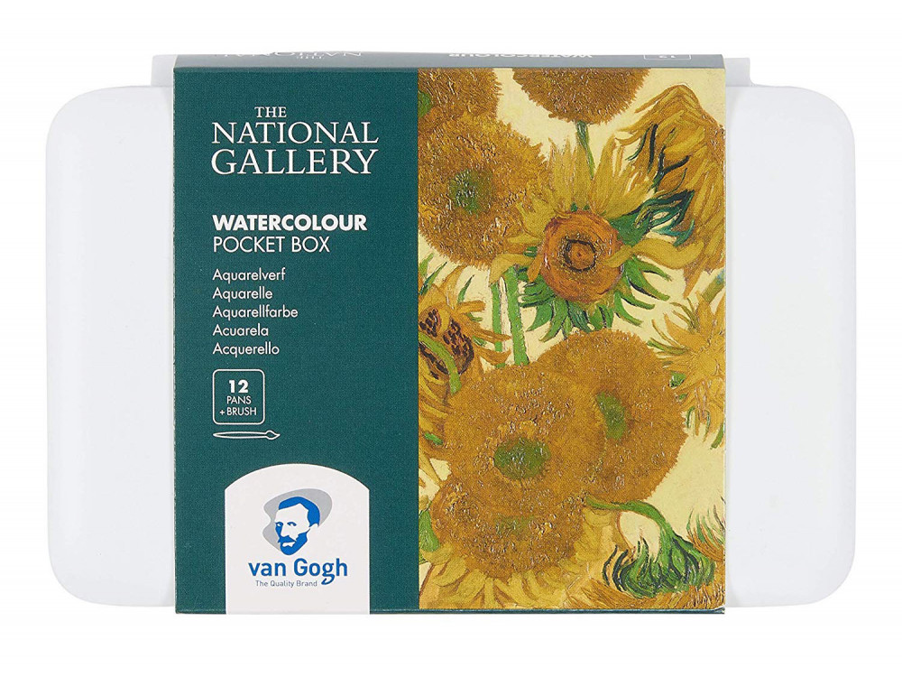 Watercolor paints pocket box - Van Gogh - 12 colors