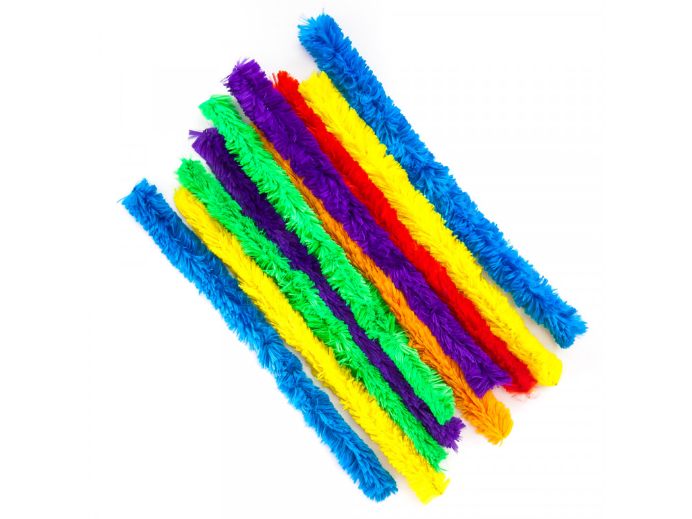 SUPER FLUFFY CHENILLE STEMS 30 CM, 10 PCS BRIGHT