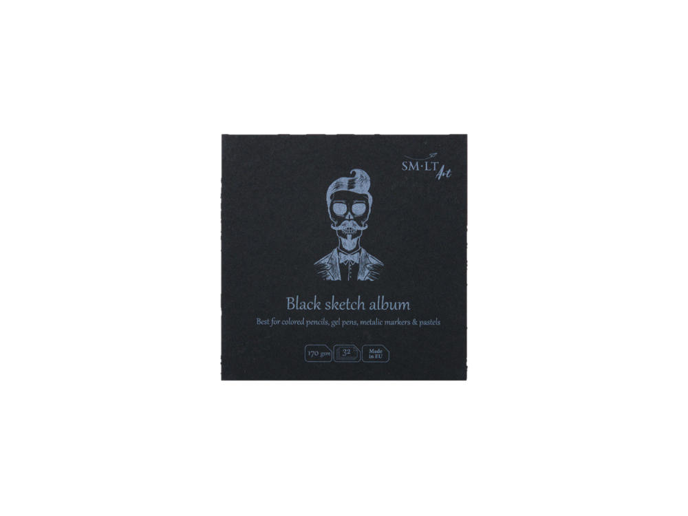 Universal Black Sketch Pad 14 X 14 Cm Sm Lt Black 170 G 32 Sheets