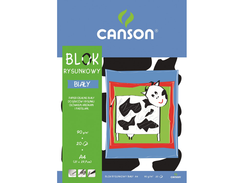 Drawing paper pad A4 - Canson - 90 g, 20 sheets