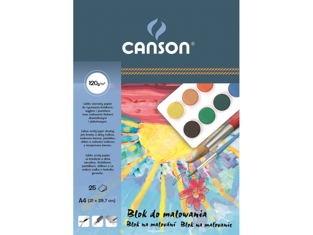 Painting paper pad A4 - Canson - 120 g, 25 sheets