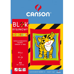 Colored paper pad A4 - Canson - 70 g, 10 sheets