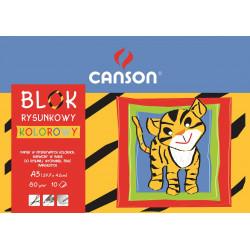 Blok rysunkowy A3 - Canson - kolorowy, 70 g, 10 ark.