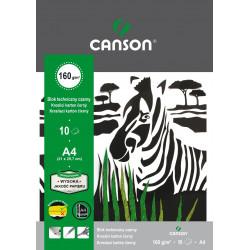 Drawing pad A4 - Canson - black, 160 g, 10 sheets