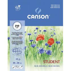 Blok akwarelowy Student 30 x 40 cm - Canson - 250 g, 10 ark.