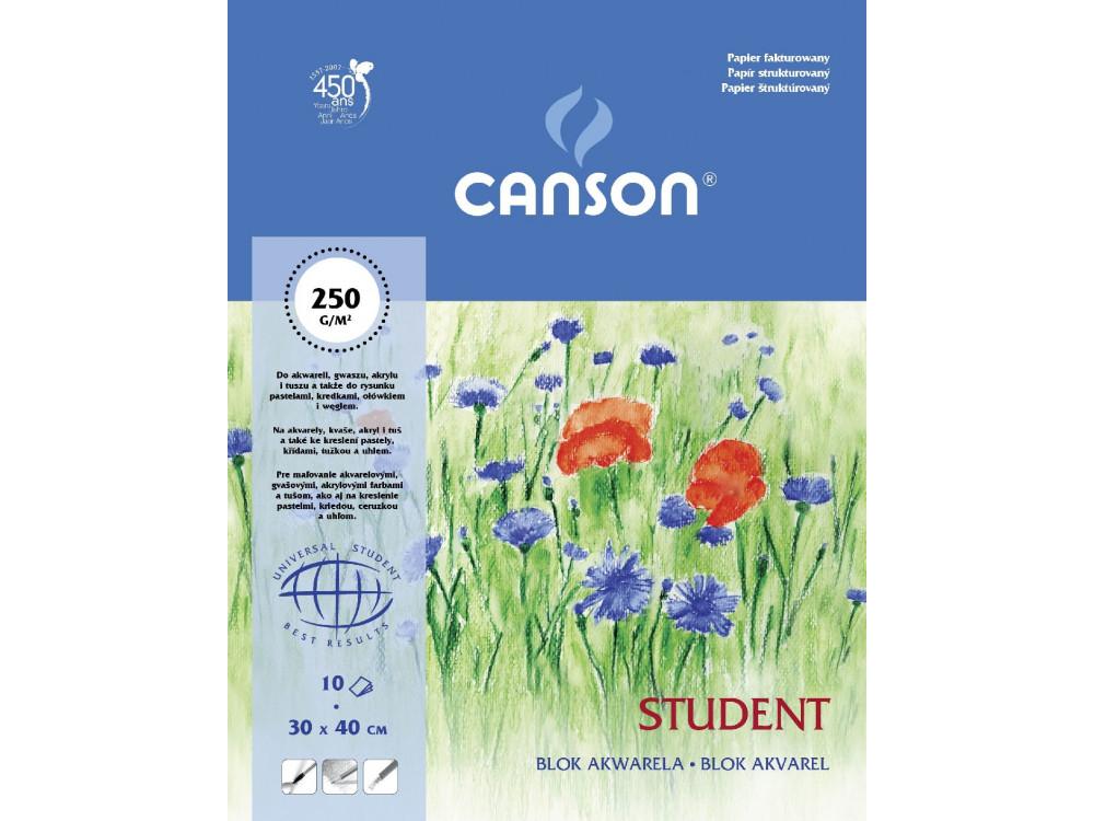 Blok do akwareli Student 30 x 40 cm - Canson - 250 g, 10 ark.