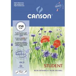 Blok do akwareli Student A4 - Canson - 250 g, 10 ark.