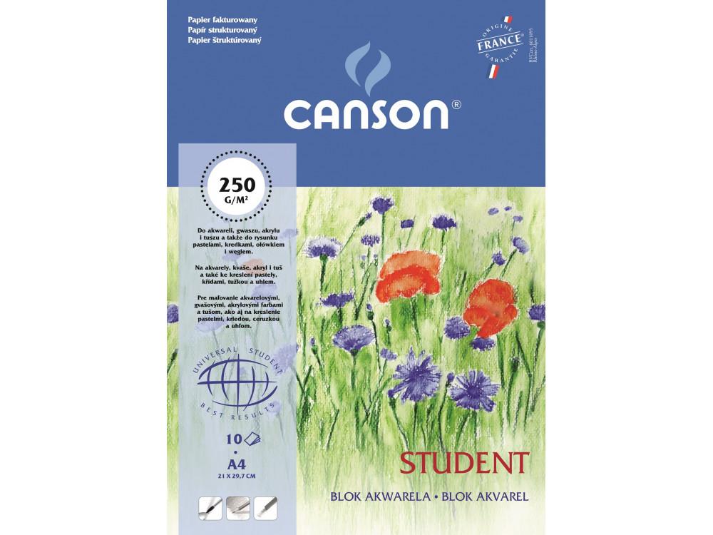 Blok akwarelowy Student A4 - Canson - 250 g, 10 ark.