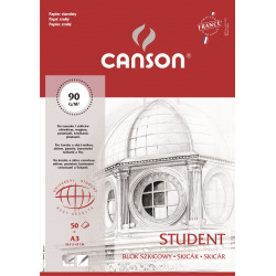 Sketch pad Student A3 - Canson - 90 g, 50 sheets
