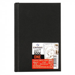 Sketchbook Art Book One A6 - Canson - black, 100 g, 100 sheets