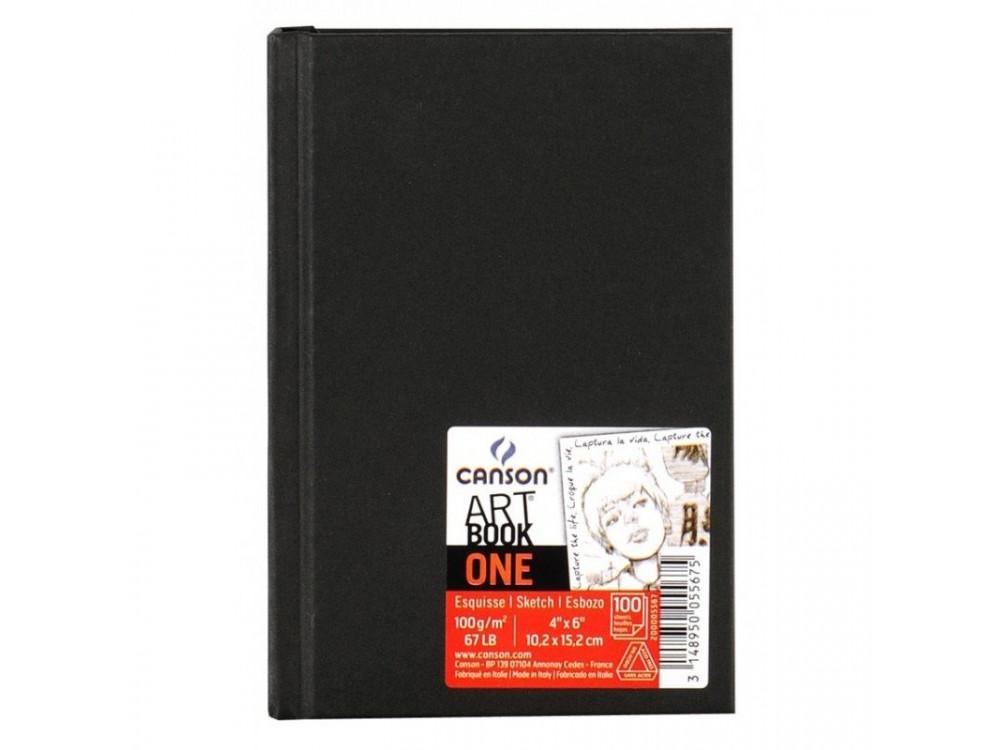 Szkicownik Art Book One A6 - Canson - czarny, 100 g, 100 ark.