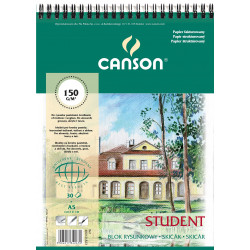 Blok rysunkowy Student A5 - Canson - spirala, 150 g, 30 ark. spirala