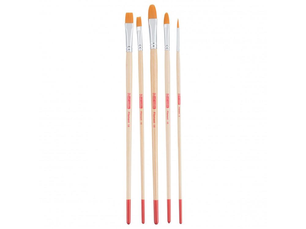 Set of poliester brushes Filament - Talens Art Creation - 5 pcs.
