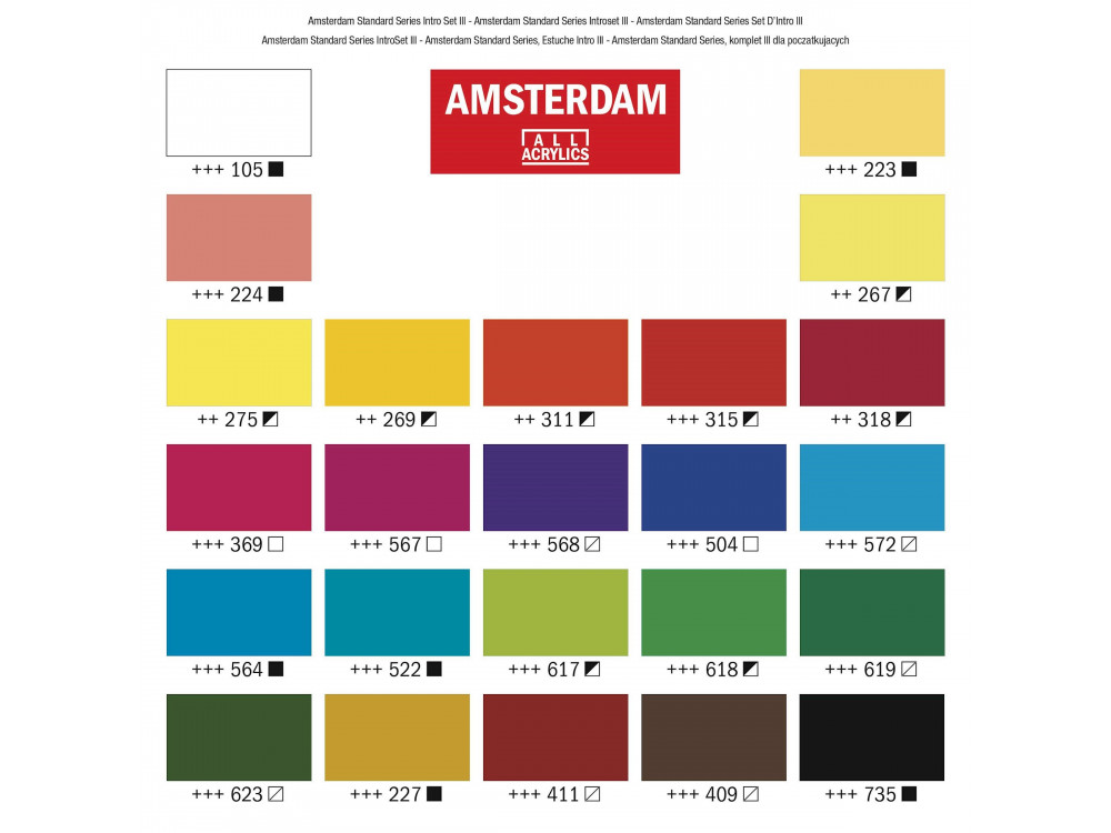 Set of acrylic paints - Amsterdam - 24 colors x 20 ml