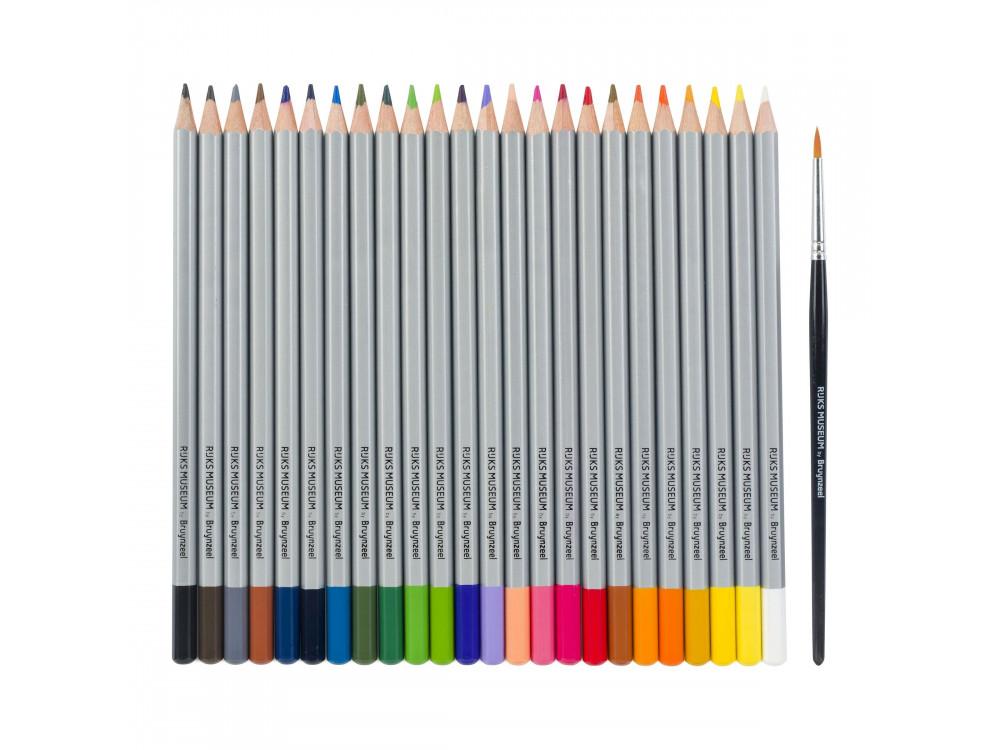 Set of watercolored pencils Rijks Museum in metal tin - Bruynzeel - 24 colors