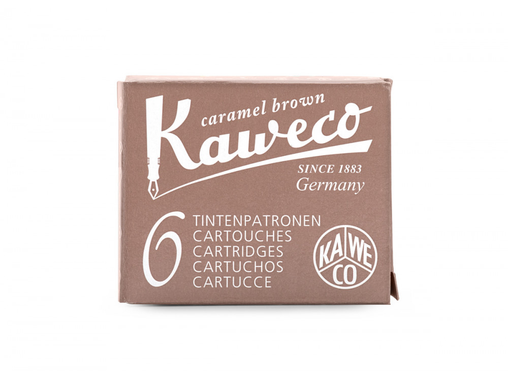 Ink cartridges - Kaweco - Caramel Brown, 6 pcs.