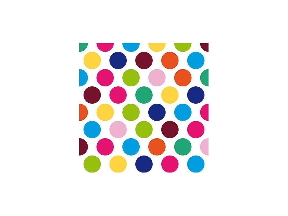 Serwetki ozdobne - Paw - So large dots, 20 szt.