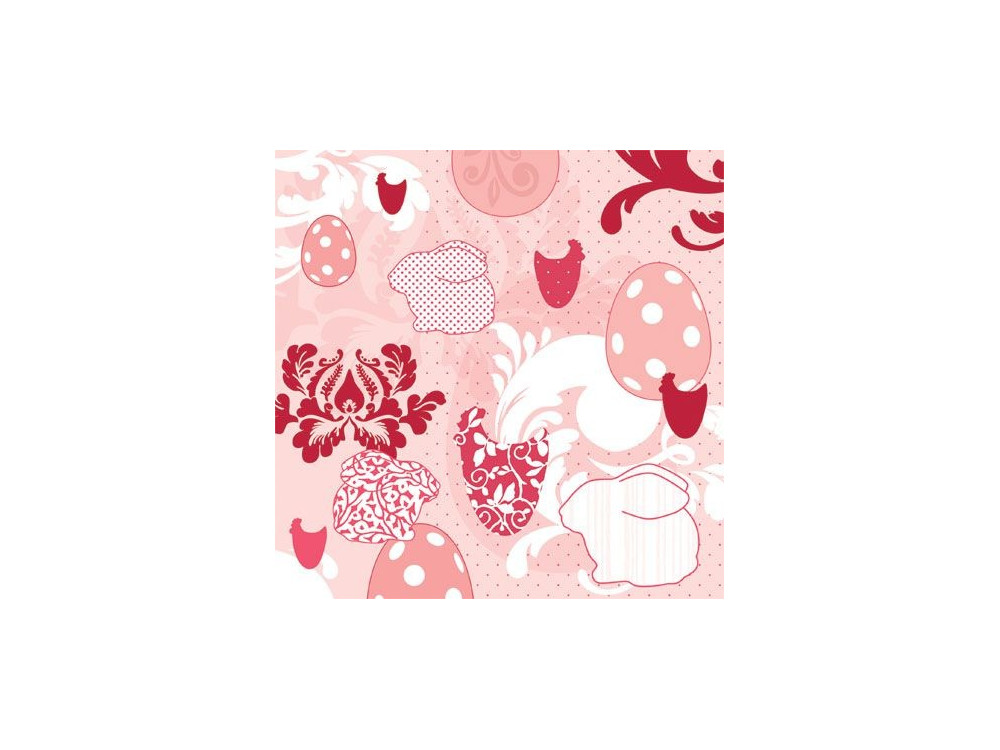 Decorative Napkins EASTER PATCHWORK red 20 pcs