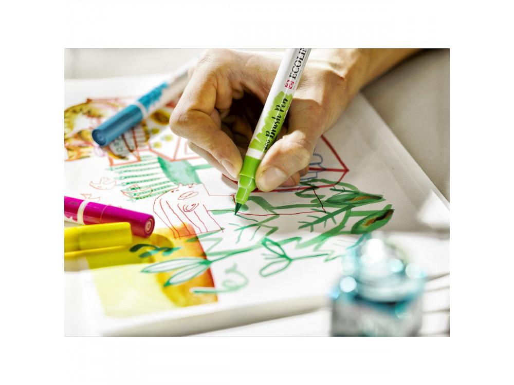 Brush Pen watercolor set Ecoline - Talens - Pastel, 5 colors