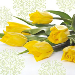 Serwetki ozdobne - Paw - Yellow Tulips, 20 szt.