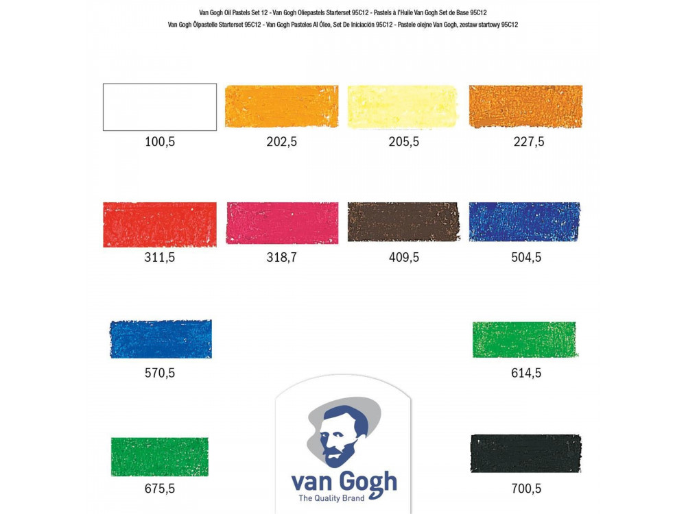 Set of oil pastels Van Gogh - Van Gogh - 12 colors