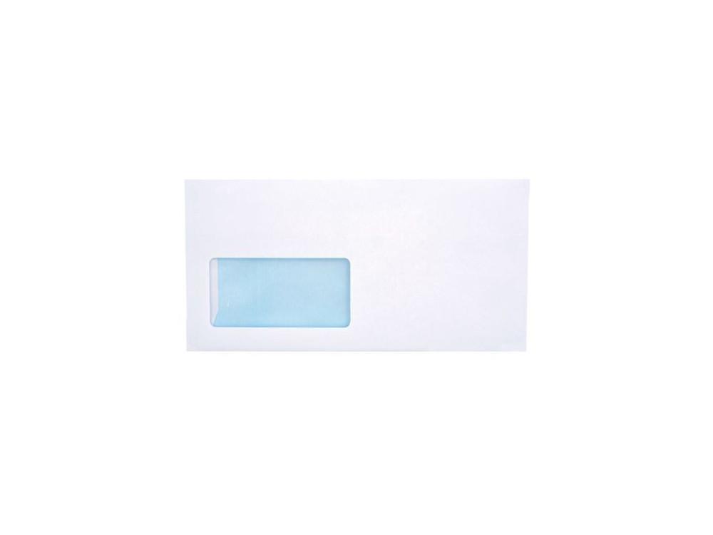 Koperty biurowe 80g DL SK lewe okno 1000 szt. białe