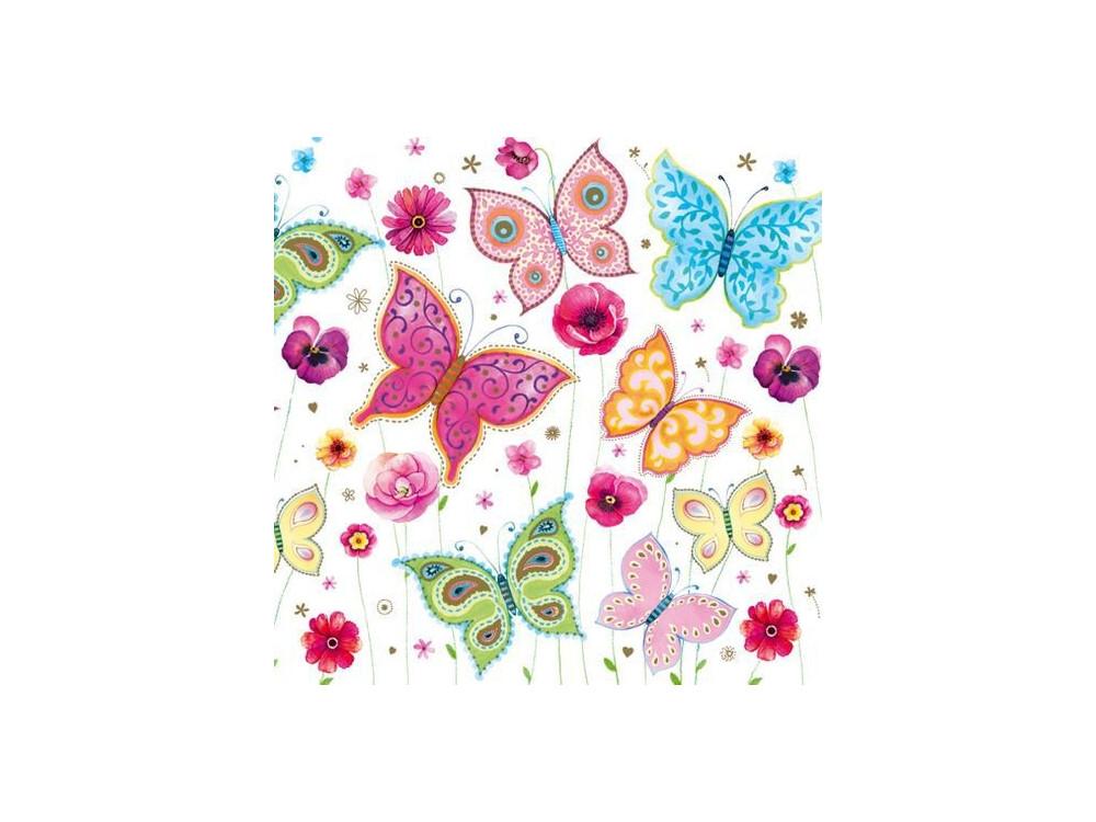 Serwetki trójwarstwowe Motyle OG 023601