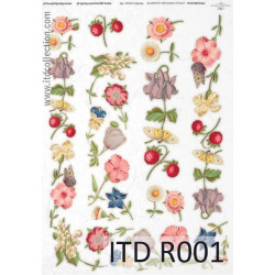 Decoupage paper A4 - ITD Collection - rice, R001