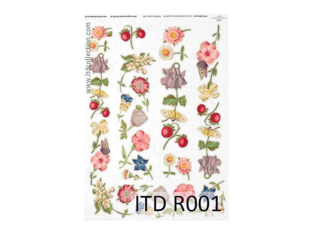 Papier ryżowy decoupage ITD R001