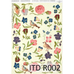 Decoupage paper A4 - ITD Collection - rice, R002