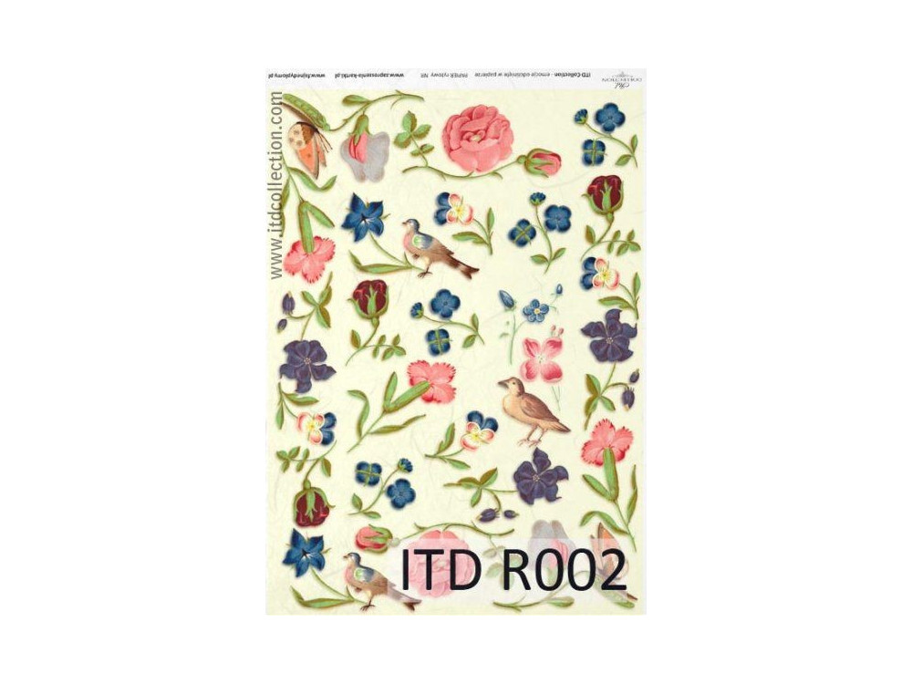 Papier do decoupage A4 - ITD Collection - ryżowy, R002