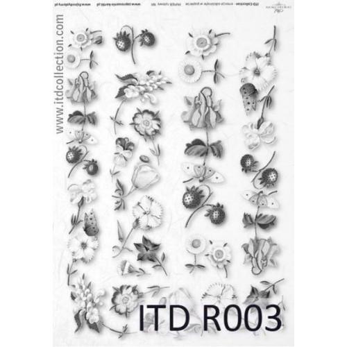 Papier ryżowy decoupage ITD R003