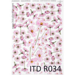 Decoupage paper A4 - ITD Collection - rice, R034