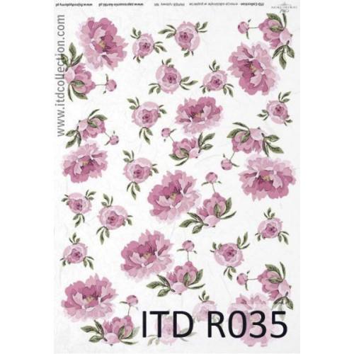 Papier ryżowy decoupage ITD R035