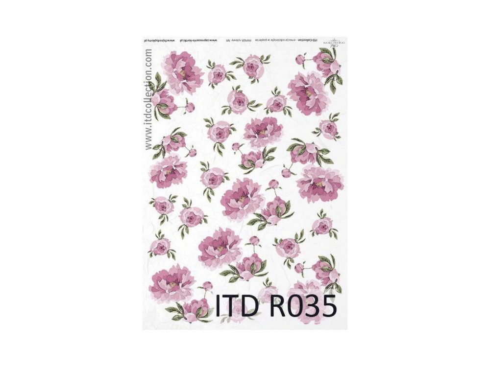Decoupage paper A4 - ITD Collection - rice, R035
