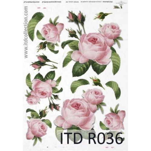 Papier ryżowy decoupage ITD R036
