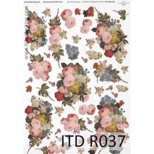 Papier ryżowy decoupage ITD R037