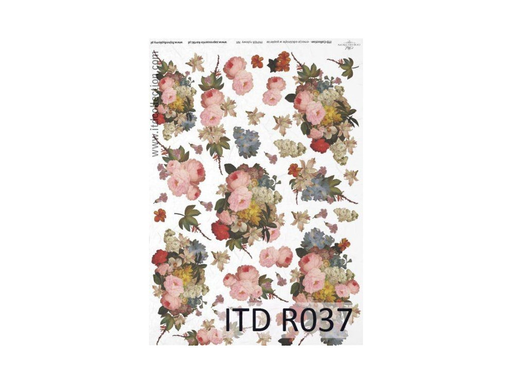 Papier do decoupage A4 - ITD Collection - ryżowy, R037