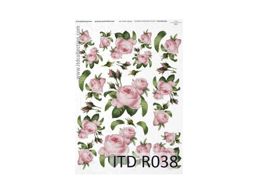 Papier do decoupage A4 - ITD Collection - ryżowy, R038