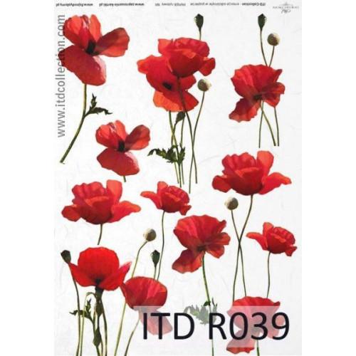 Papier ryżowy decoupage ITD R039
