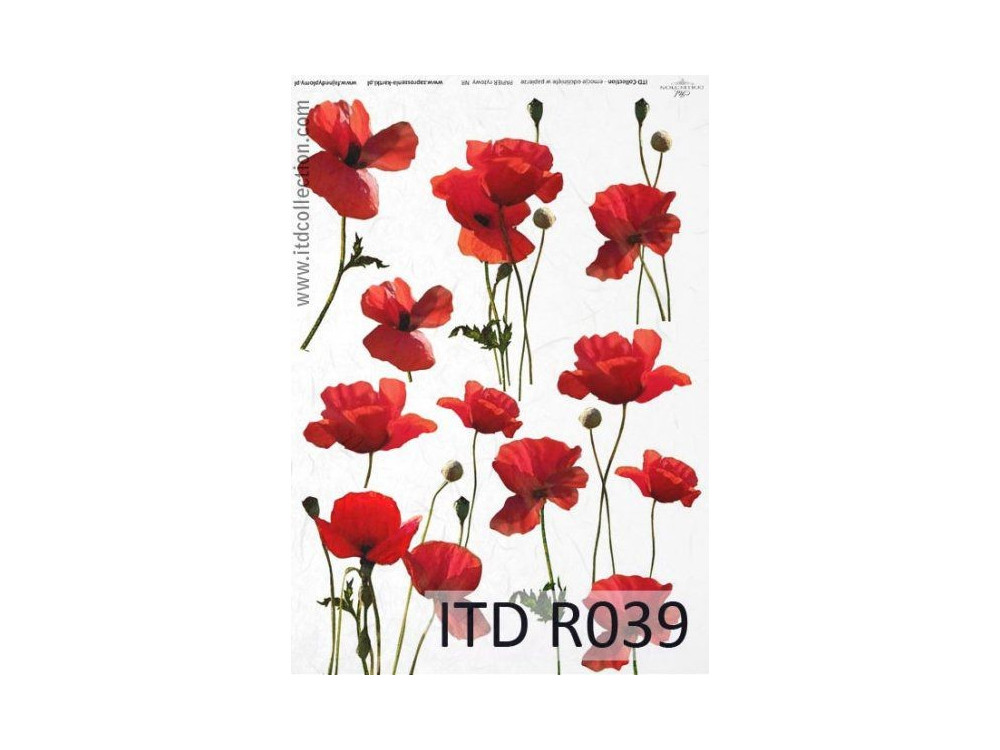 Decoupage paper A4 - ITD Collection - rice, R039