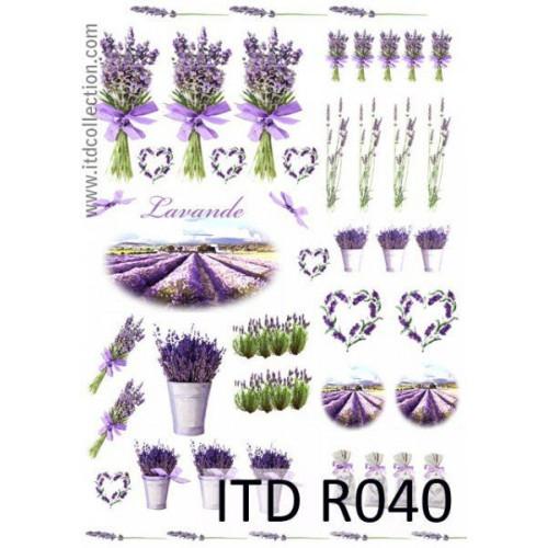 Papier ryżowy decoupage ITD R040