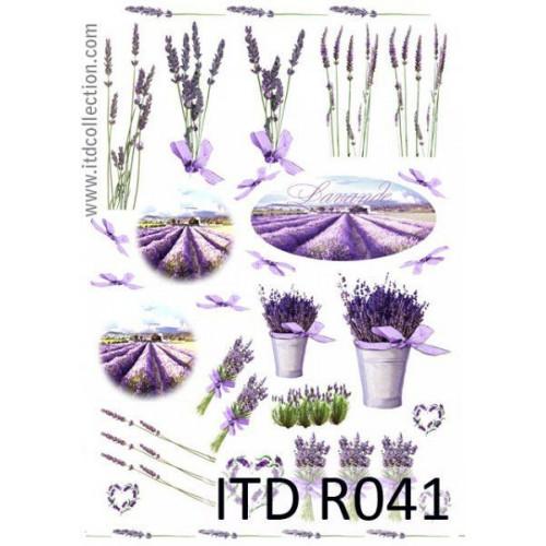 Papier ryżowy decoupage ITD R041