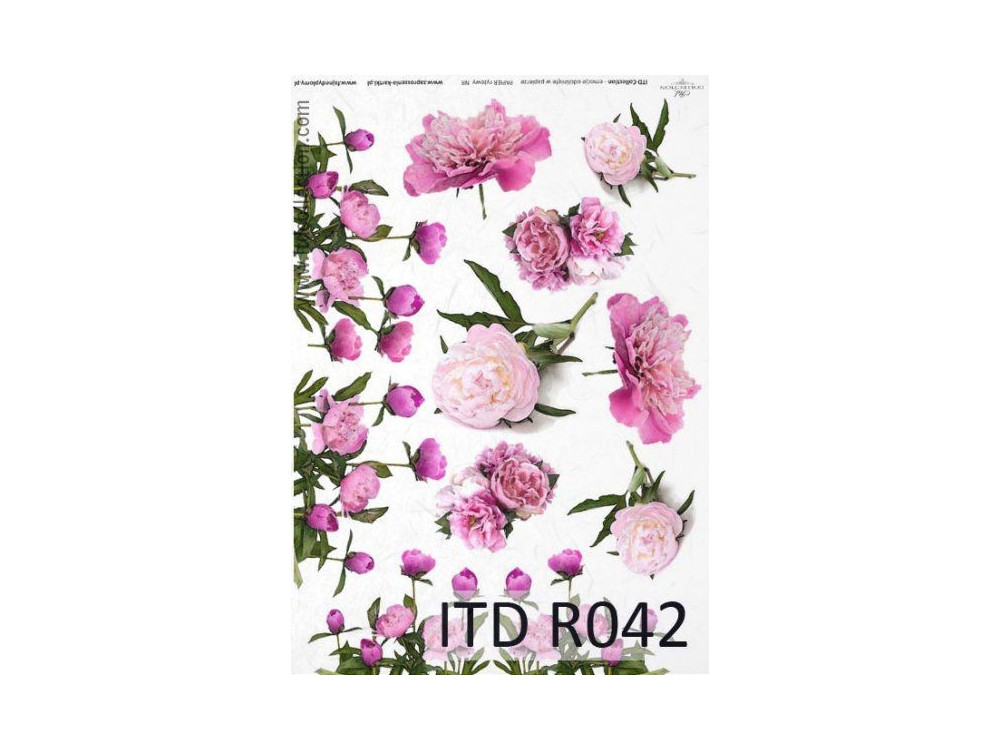 Papier do decoupage A4 - ITD Collection - ryżowy, R042