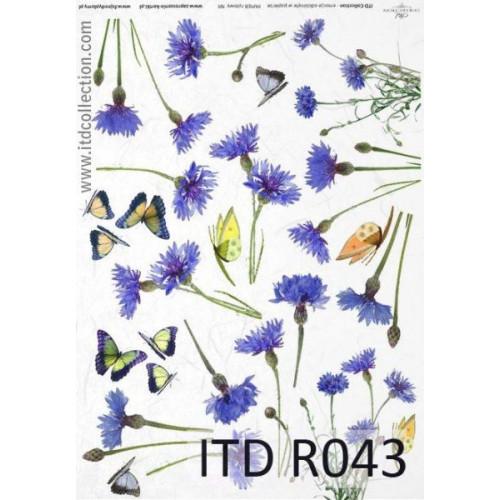Papier ryżowy decoupage ITD R043