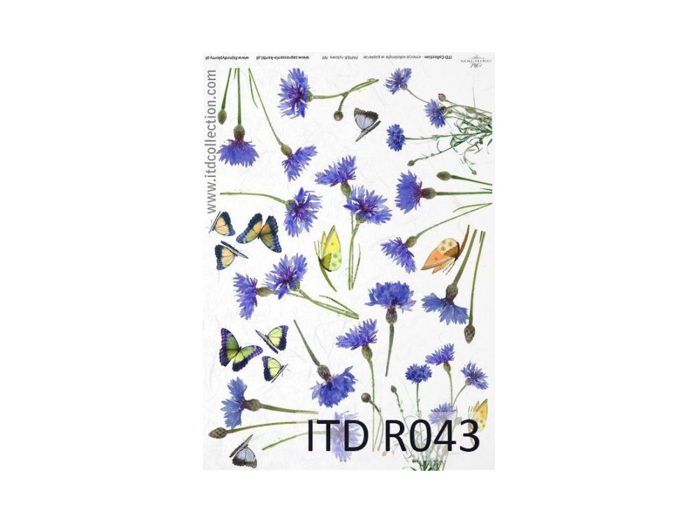 Decoupage paper A4 - ITD Collection - rice, R043