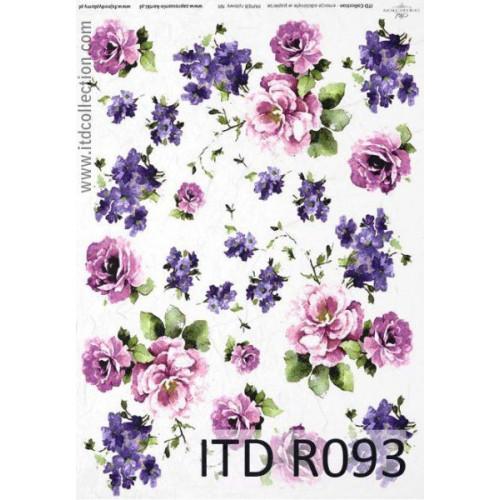 Papier ryżowy decoupage ITD R093