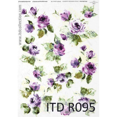 Papier ryżowy decoupage ITD R095