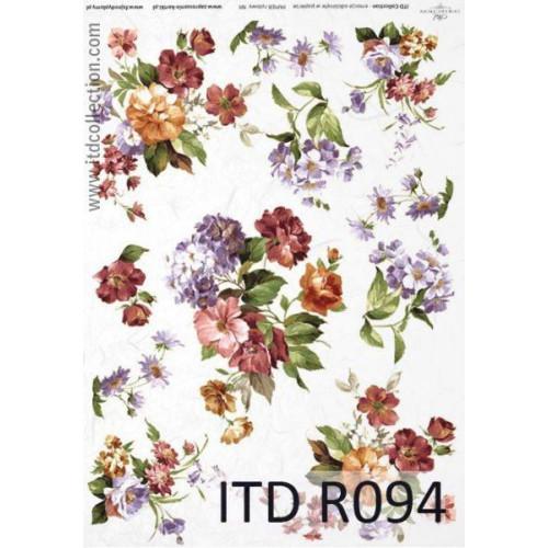 Papier ryżowy decoupage ITD R094