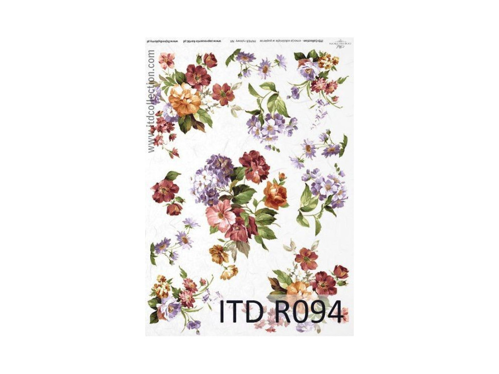 Papier do decoupage A4 - ITD Collection - ryżowy, R094
